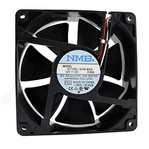 NMB Ventilador 120 mm 120 x 120 x 38 4715KL-04W-B49 12 V 0,9 A DC Air Fan 12 cm 3 hilos
