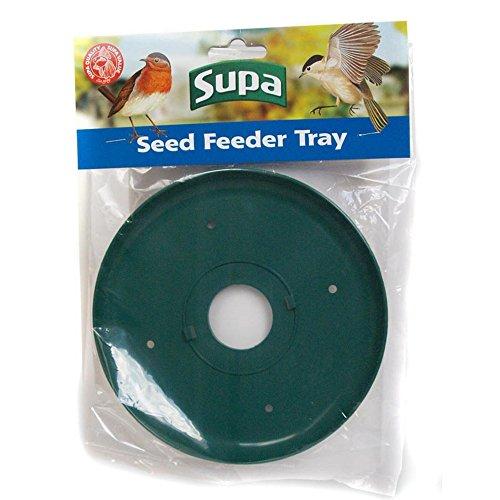 Supa Wildvogel Samen und Erdnuss Futter-Auffangschale (Einheitsgröße) (Grün)