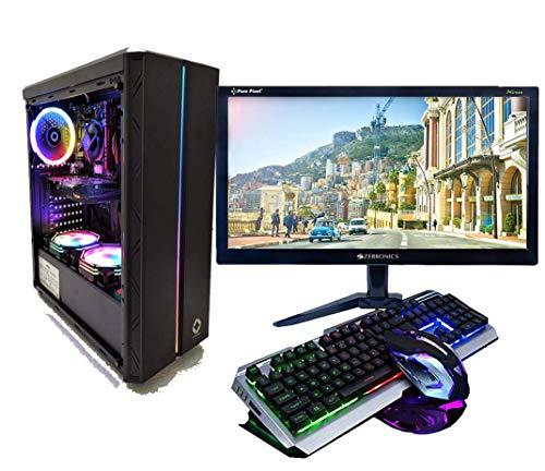 CHIST Gaming Desktop AMD Ryzen 3 3200G 4 Core 4Threats   8GB Ram 1TB Hard Disk   20 inch Full HD Monitor Gaming Keyboard Mouse WiFi Gaming 3RGB Cabinet (Vega 8 Graphics)