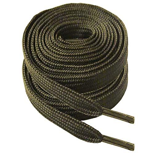 iBarbe Junlu Flache Schnürsenkel, 5/16 Zoll breit, 132 cm Länge, Laufroller, Derby, 2 Paar