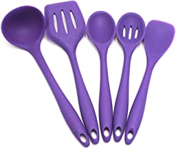 Cooking Utensils New Kitchen Supplies Wholesale 5pcs Accessories Silicone Cover Nylon Cooking Tool Set With 5 Function