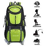 Gohyo Zaino da Trekking 60L Zaini Escursionismo Impermeabile Grandi Leggero per Viaggi Campeggio Alpinismo Green