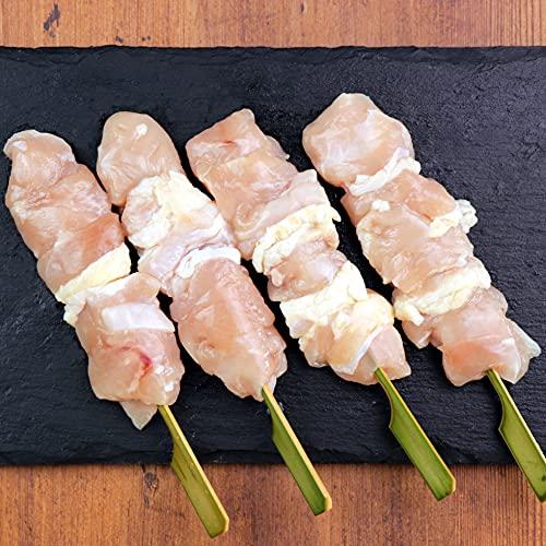 水郷のとりやさん 地鶏 名古屋 コーチン 焼き鳥用 生串 むね串 4本入 ※冷凍便限定 焼鳥 串物