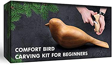 BeaverCraft, Wood Carving Kit Comfort Bird DIY - Complete Starter Whittling Knife Kit for Beginners Adults and Teens - Book Fun Project Carve Bird Hobby Whittling Knife - Learning Woodworking for Kids