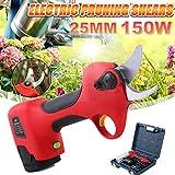 ZDYLM-Y 14,4 eléctrica sin Cuerda Tijeras de podar, Herramienta para el jardín Recargable Rama de árbol podador, 25 mm de diámetro de Corte, 6-8 Horas de Trabajo