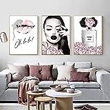 Henypt Parfüm Lippen Poster Mode Leinwand Malerei Blume