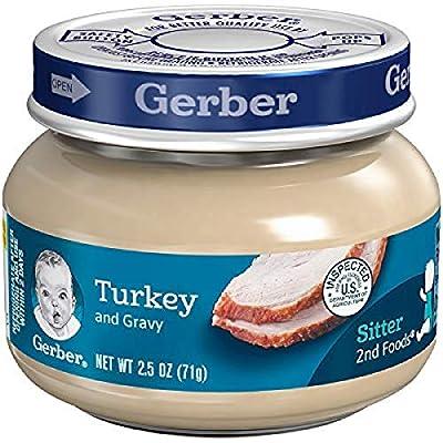 Gerber Purees 2nd Foods Turkey & Gravy, 2.5 Ounce Jars (Pack of 10)