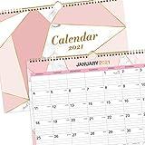 Kalender 2021, Wandkalender von Januar bis Dezember, Monat um den Monatskalender mit Regelblöcken und Jahresübersicht anzuzeigen, 29 x 37,3 cm