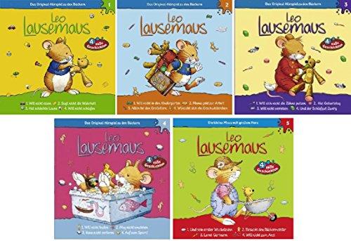 Leo Lausemaus - Das Original Hörspiel zu den Büchern - CD 1-5 im Set - Deutsche Originalware [5 CDs]