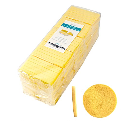 Facial Sponges | 240 Count | APPEARUS PVA Compressed Face Sponge for Face Wash Cleansing, Exfoliating, Mask, Makeup Removal