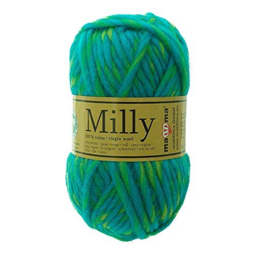 50g Filzwolle Milly Wolle zum Strickfilzen 100% Schurwolle, große Farbwahl, Farbe:111 blue lagon