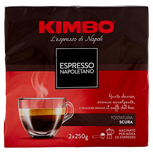 Kimbo - Caffè Espresso Napoletano - 5 pezzi da 2x250 g - Totale 2500 g