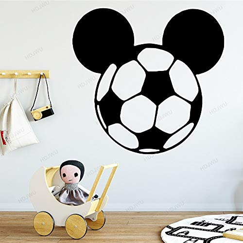 yaonuli Cartoon Kopf Fußball Wandaufkleber Boy Room Abnehmbarer Wandaufkleber Wasserdichter Wandaufkleber 33X42cm