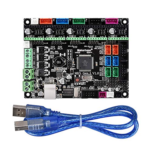 Kingprint - Placa de impresora 3D MKS Gen L V2.0 controlador compatible con LCD2004/LCD12864 soporte A4988/8825/TMC2208/TMC2100 controladores + USB