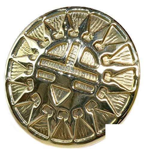 コンチョ ネイティブ コイン ホピ サンフェイス インディアンジュエリー アラベスク インディアン 財布 ウォレット メンズ ネジ式