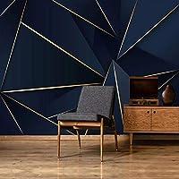 MAZF カスタム3D壁紙モダンファッションライトラグジュアリー抽象的なゴールデンライン青い背景壁壁画リビングルームテレビソファ壁紙