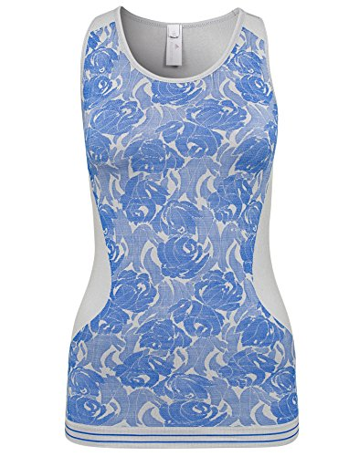 adidas - Camisa Deportiva - para Mujer Grey-Blue Talla:Mediano