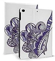 KUYE 手書きインクの抽象芸術パターン iPad Air 10.5 ケース (2019モデル) Apple Pencil 収納可能 スタンド機能 iPad Air3 10.5 インチ (2019新型) 保護カバー 軽量 薄型 傷つけ防止