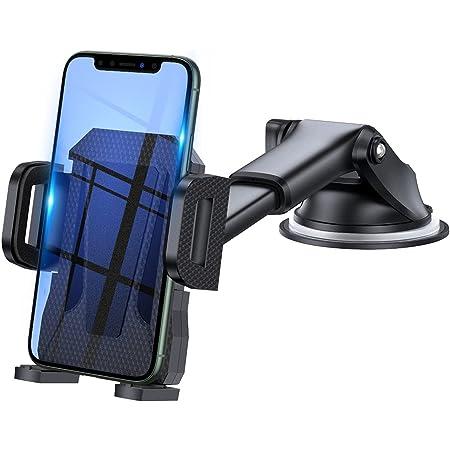 3en1 Support Telephone Voiture, Porte Téléphone Voiture Grille aération Pare Brise Tableau de Bord par Ventouse Compatible avec Smartphone iPhone 6 7 8 X XR XS 11 pro Max Samsung S9 S10 Plus (Noir)