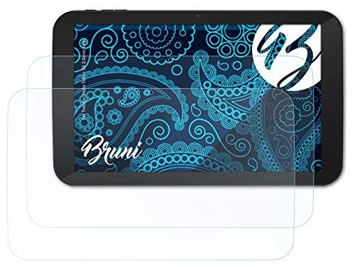 Bruni Schutzfolie kompatibel mit Trekstor Volks-Tablet 3G 2.Generation Folie, glasklare Bildschirmschutzfolie (2X)