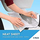 In My Bathroom | Neat Sheet - Toilet Seat Covers (Sanitary Toilet, Avoid Germs, Disposable Paper, Travel Size, Pack of 10x3)