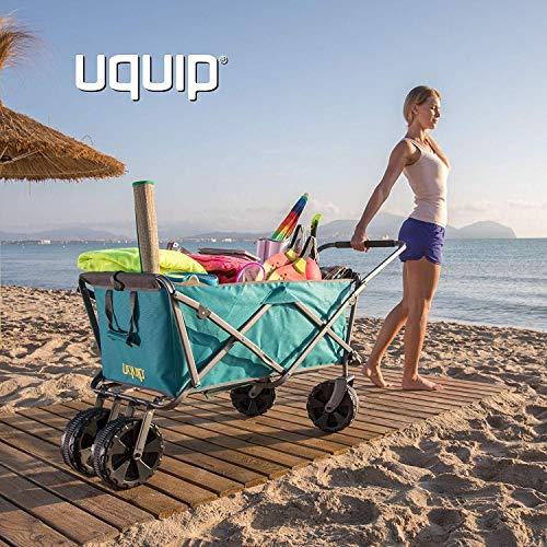 Uquip Buddy - Chariot de Plage Pliant à roulettes - Capacité de Charge 100 Kg