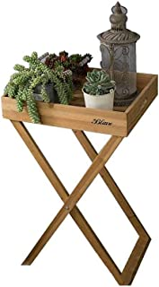Modern Folding Square Flower Stand Succulents Plant Potted Display Shelf Garden Balcony Tray Bonsai Small Desk Tea Table V...