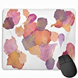 SDwosibao Cute Gaming Mouse Pad, Desk Mousepad, Small Mouse Pad for Laptop Computers, Mouse Mat Colorful Dry Dried Flower Petals Pink Pressed Potpourri Rose Bloom Color Colored