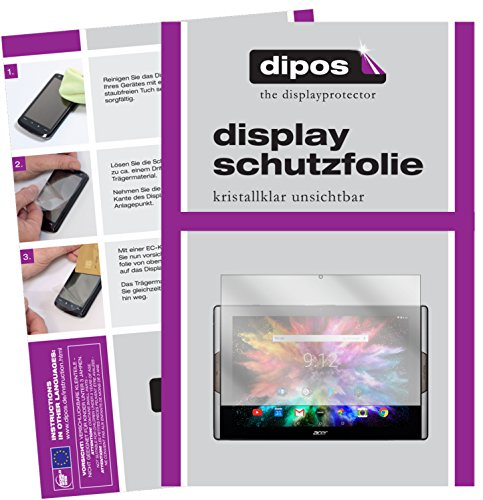dipos I 2x Screen Protector compatible with Acer Iconia Tab 10 A3-A50 Protection Films clear