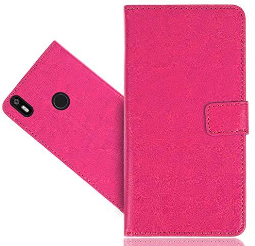 BQ Aquaris X/X Pro Handy Tasche, FoneExpert® Wallet Hülle Cover Genuine Hüllen Etui Hülle Ledertasche Lederhülle Schutzhülle Für BQ Aquaris X/X Pro