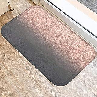 HLXX Stone Stripe Marble Pattern Anti-Slip Suede Carpet Door Mat Doormat Outdoor Kitchen Living Room Floor Mat Rug A5 40x60cm