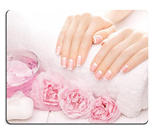 Luxlady Gaming Mousepad ID: 40982823 Franse manicure met rozenbloemen spa