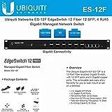 EdgeSwitch ES-12F 12 Fiber 12xSFP 4xRJ45 Gigabit Managed Network Switch (12 Gigabit SFP Ports; 4 Gigabit RJ45 Ports; 1 Serial Console Port; 32 Gbps Switching Capacity)