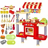 deAO Cocina Restaurante Puesto de Comida Rpida 2en1 Fast Food Playset Incluye Variedad de...