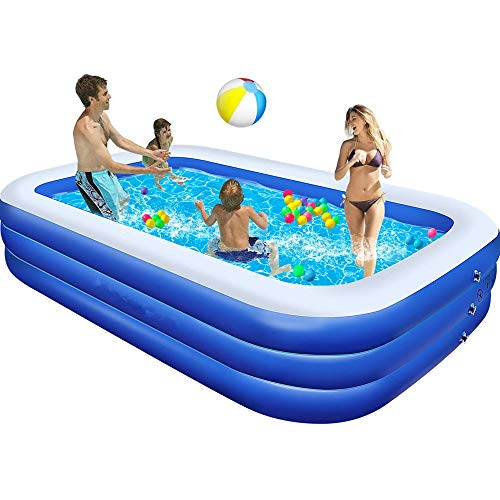"powerful Pool, large family pool 120 ″ X72 ""X24 ″, inflatable pool for kids and adults, thick…"