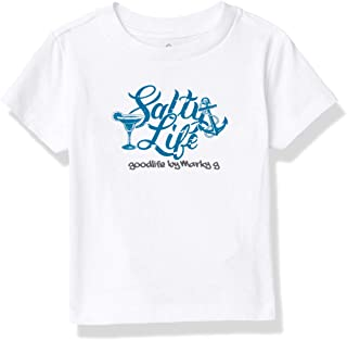 Marky G Apparel Boys' Printed Salty Life Graphic Cotton Jersey T-Shirt