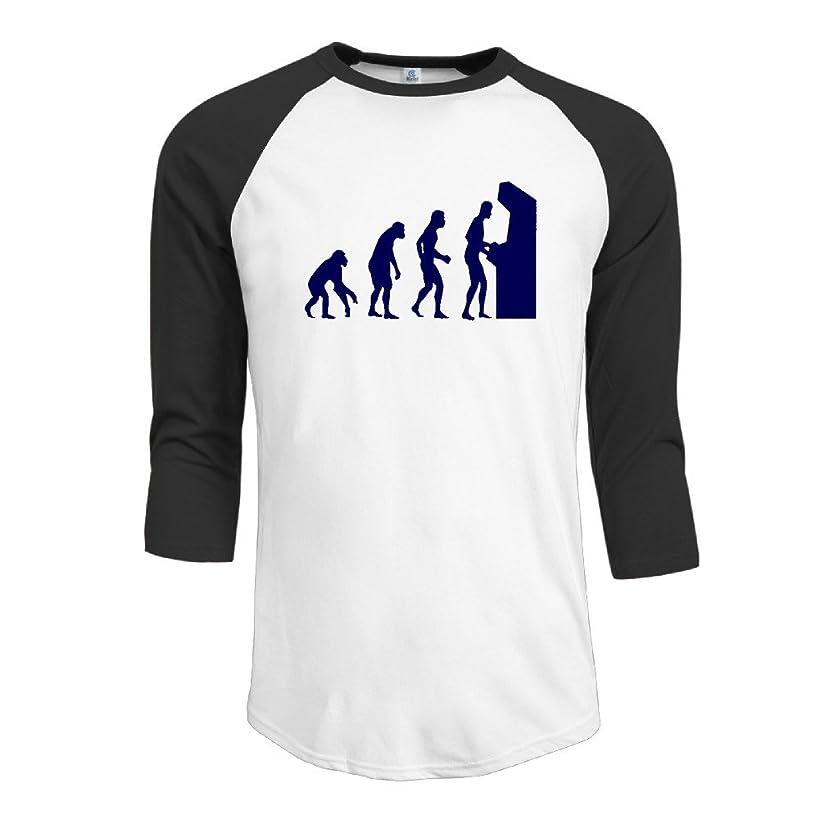 Men Arcade Gamer Evolution Space Invaders Eat Sleep Men Baseball Jersey T Shirt