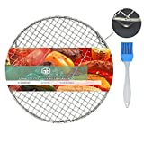 Geekbuzz Multi-Purpose Barbecue Racks Tray Stainless Steel Cross Wire Round Steaming Cooling Rack with 3 Legs (Diameter:11 inches/28cm)