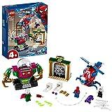 LEGO Super Heroes La Minaccia di Mysterio Marvel Spider-Man Playset d'Azione con Mech, Elicottero e la Minifigure di Ghost Spider, Set di Costruzioni per Bambini +4 Anni, Multicolore, 76149