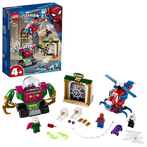 LEGO SuperHeroes MarvelSpider-Man LaMinacciadiMysterio, Giocattolo con Elicottero per Bambini, 76149