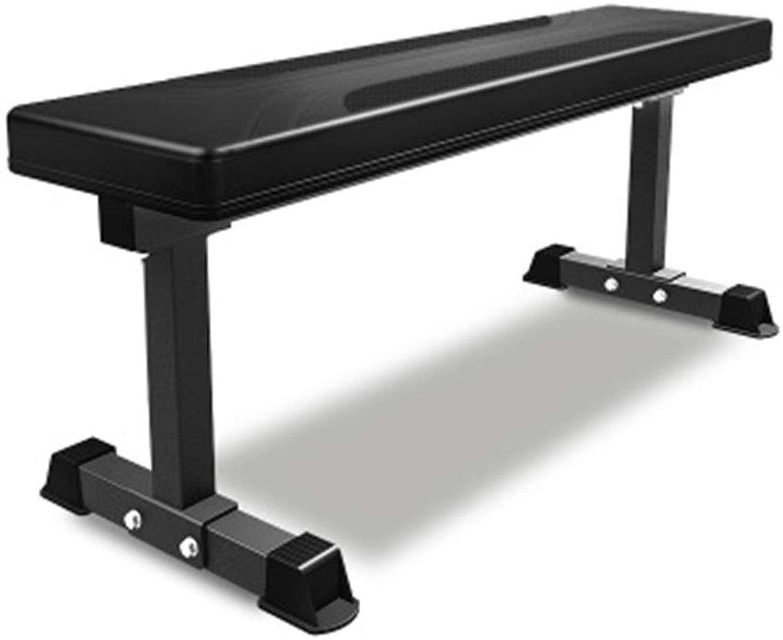 耐久性のあるホームフィットネスチェア多機能フィットネスダンベルトレーニングビッグフラットスツール商業ジムスポーツ機器ベンチベアリング より良い運動 (色 : ブラック, サイズ : 121x38.5x50cm)