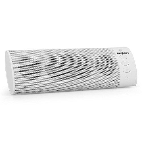 oneConcept - JamBar BT120, Bluetooth 2.1-Lautsprecher, Box, Bluetooth-Reichweite: ca. 15 m, Soft Touch Grip-Oberfläche, Freisprechanlage, weiß
