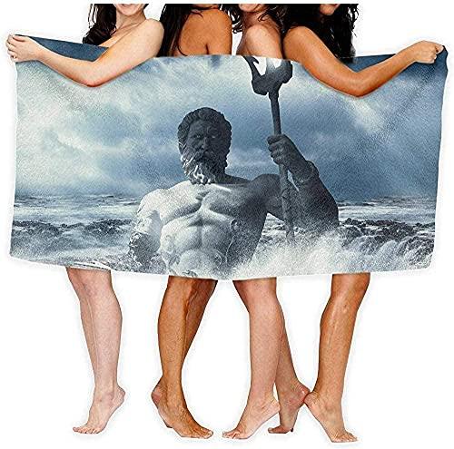 Toalla de Playa Toalla Poseidon Sea Bath Towel Travel Body Wrap 80 × 130cm