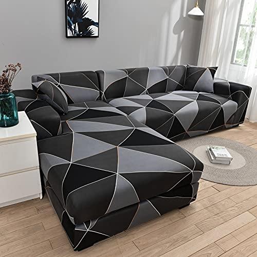 PPOS L shapecorner Funda de sofá elástica para Sala de Estar Funda Impresa para Fundas de sofá Stretch A13 1 Asiento 90-140cm-1pc