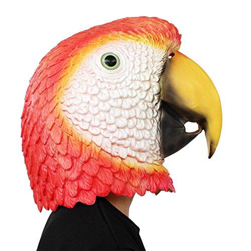 PartyCostume Mscara de Cabeza Humana de Fiesta de Traje Lujo de Halloween Loro Parrot