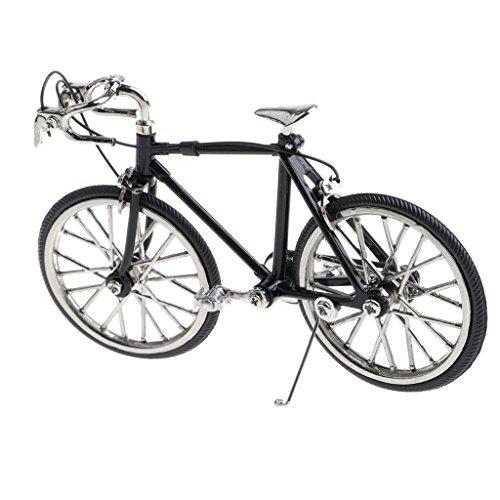 Modellino Diecast Biciclette Ciclismo Miniatura Decorazione Case Bambole Lega Nero