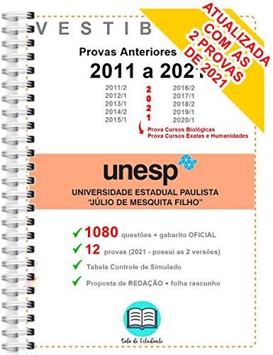 UNESP 1º Fase Provas Anteriores 2011 a 2021 + Gabarito Oficial - 1080 questões OFICIAIS