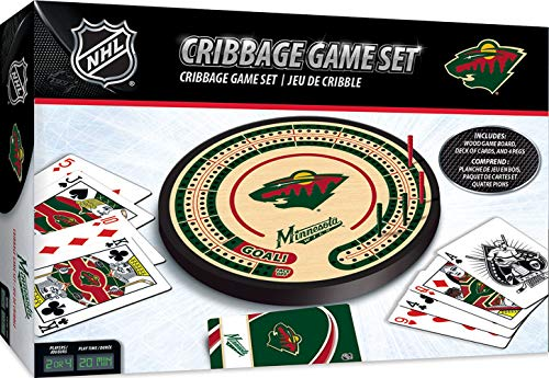 MasterPieces NHL Minnesota Wild Cribbage Game, Team Colors, One Size