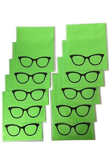 10x Mikrofaser Brillenputztuch - Brille - grün - groß - 18cm x 14,5cm - Putztuch Displayputztuch Reinigungstuch für Kamera iPad iPhone Tablet PC   📦   🇩🇪   ✅   😊  🥇