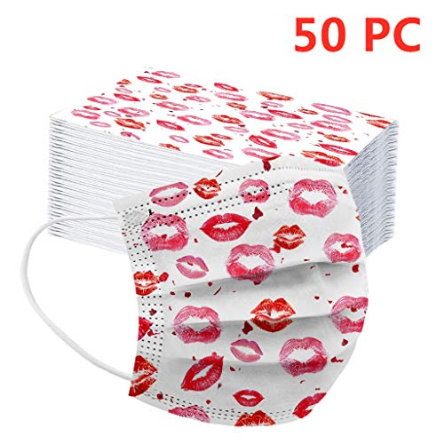 MaNMaNing Niños Protección 3 Capas Transpirables con Elástico para Los Oídos Pack 10-100 unidades 20200721-MaNMaN-KI03 (50, Rosa)